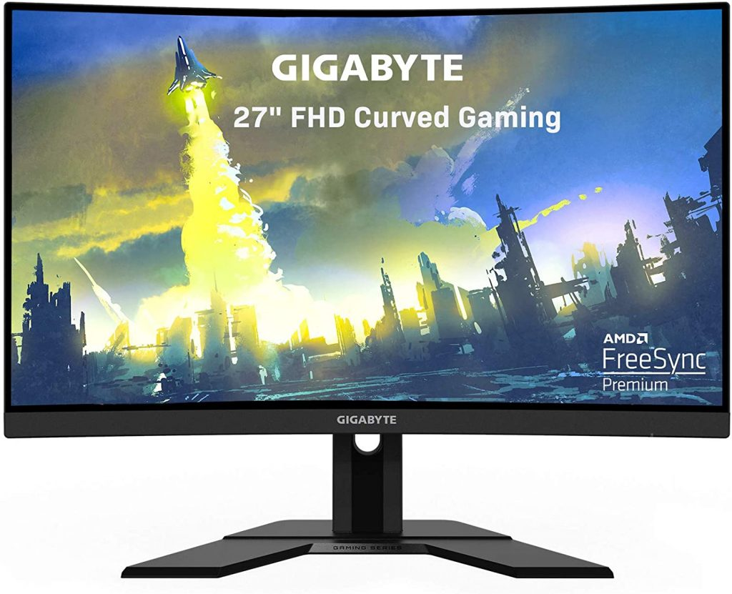 GIGABYTE G27FC - best Curved 1080p monitor for ps5